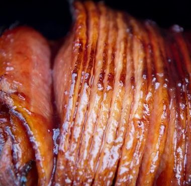 Geglaceerde ham met ham
