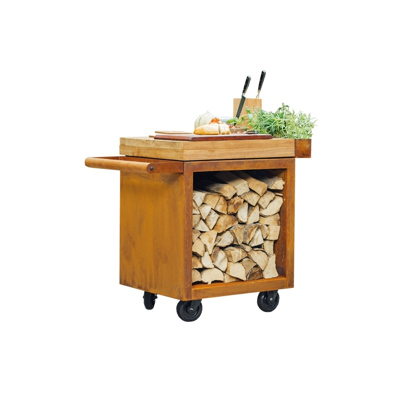 OFYR Mise En Place Table Corten 65 PRO Teak Wood
