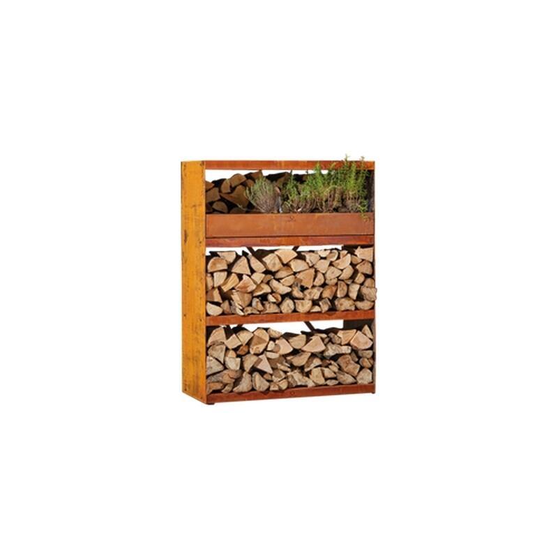 OFYR Wood Storage Corten Cabinet