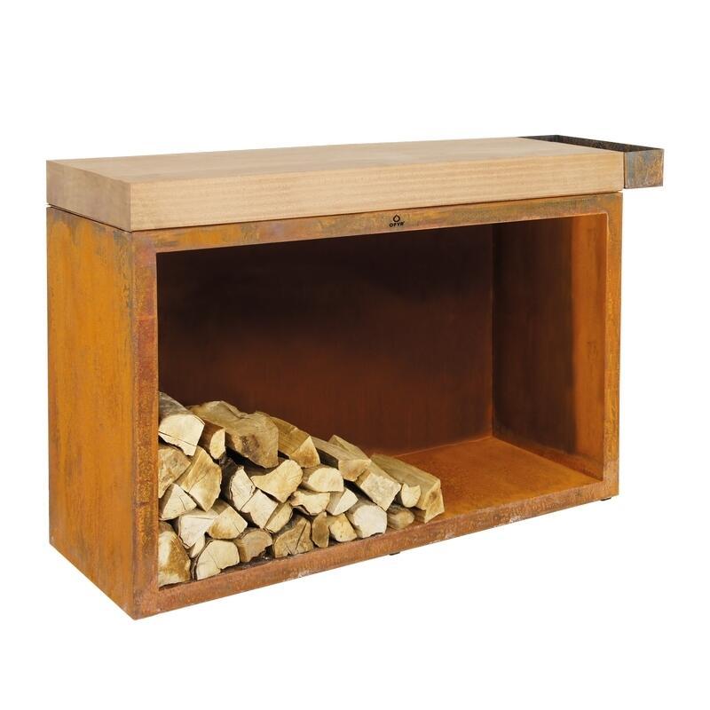 OFYR Butcher Block Storage 135 Corten Teak Wood