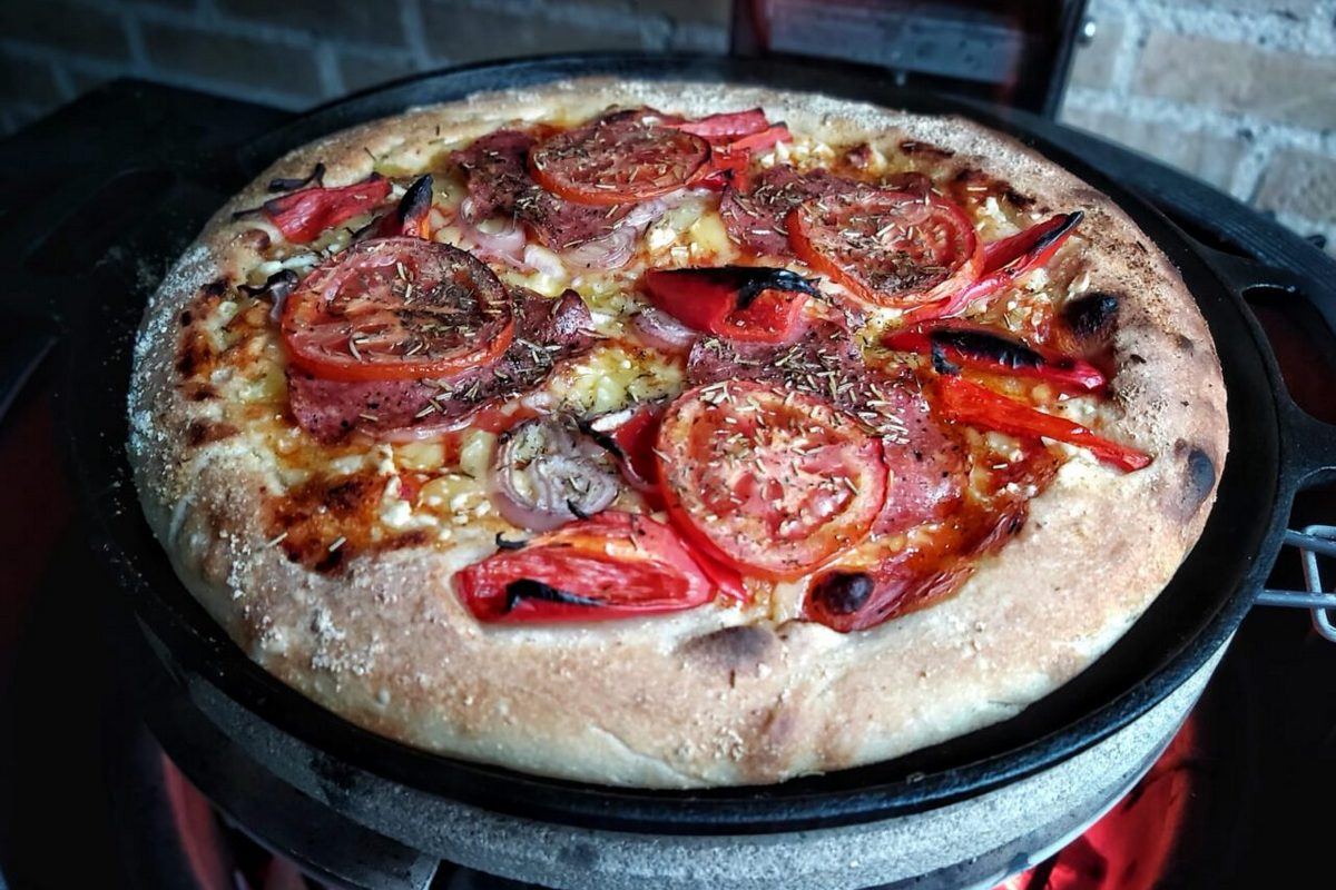Deep pan pizza recept