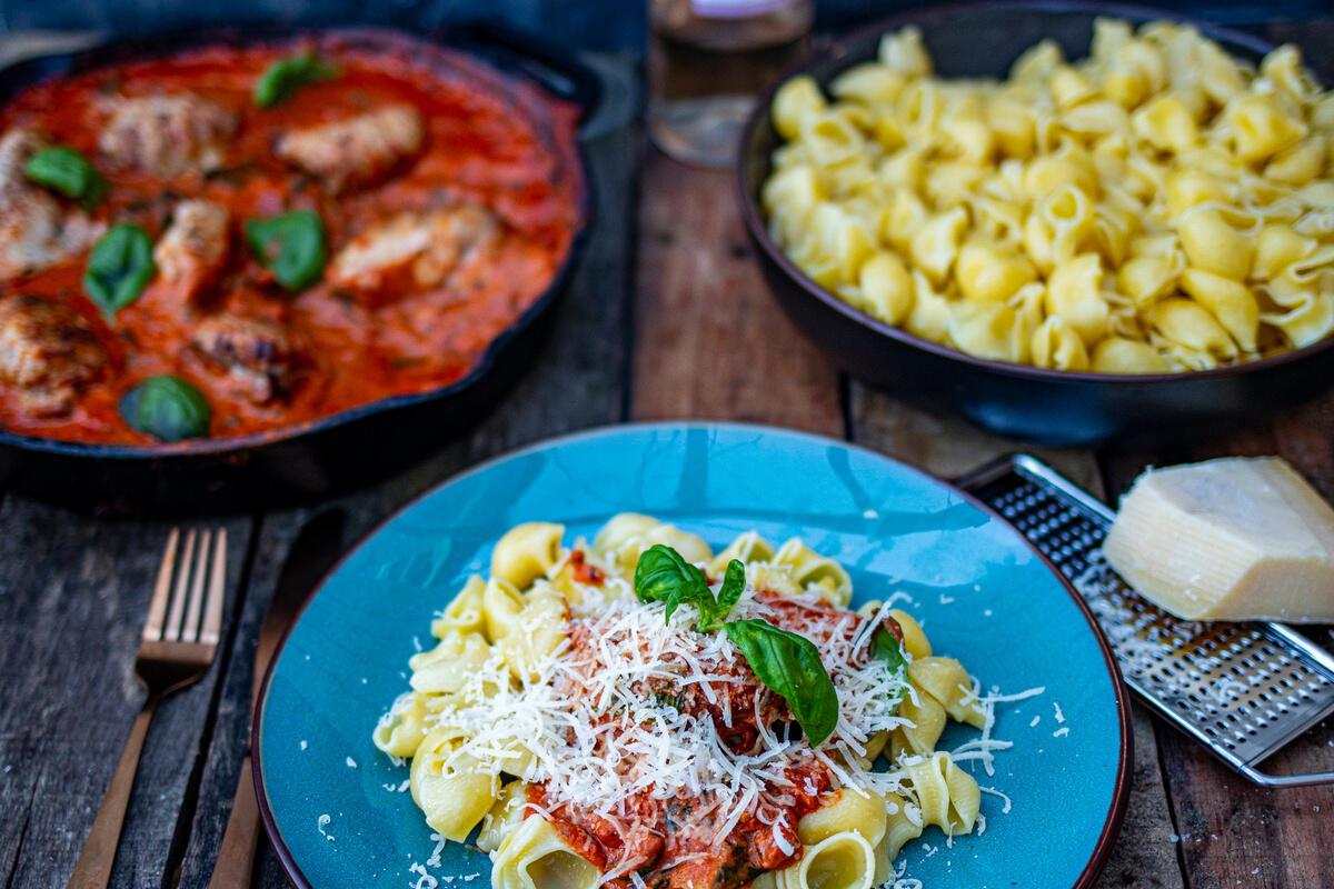 kippendijen pasta recept