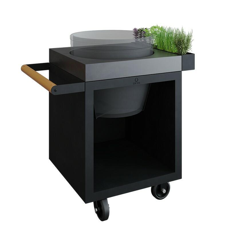 OFYR Kamado Table Black 65 PRO Beton BGE